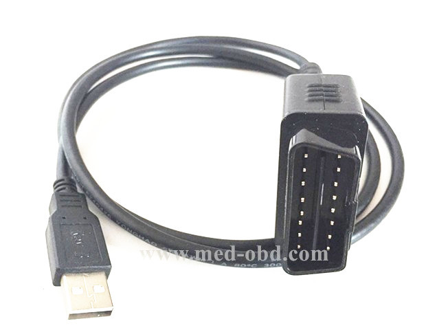 CAR CABLE OBD 2 OBD2 Obd2 Cable, 16pin J1962m obd2 to usd Cable