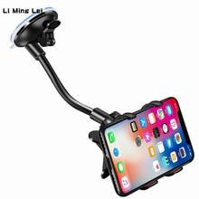 Phone Car Holder Flexible 360 Degree Rotation Mount Mobile For Smartphone Support GPS