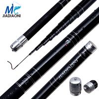 JIADIAONI Carbon Fiber 5.4M 6.3M 7.2M 8.1M 9.0M Telescopic TaiWan Spinning Fishing Rod Pod China Fishing Equipment Wholesale