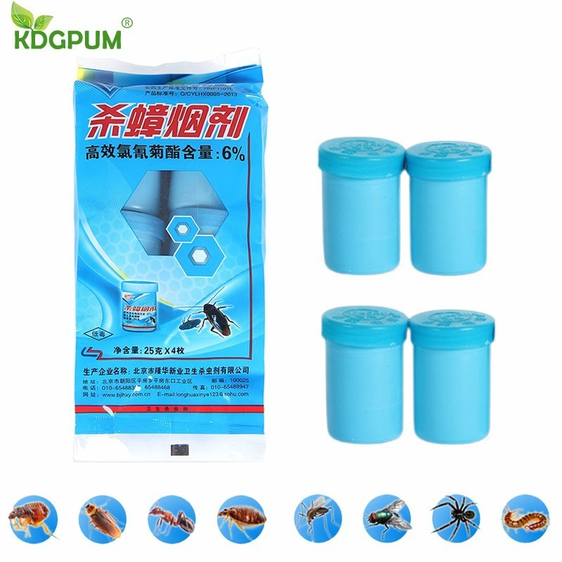 4PCS Effective Cockroach Killer Smoke Bomb Insecticides Pest Control Flea Ant Mosquito Fly Insect Repeller Mosquito Repellent