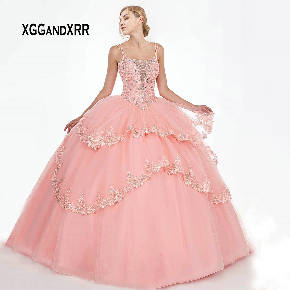 Luxury Quinceanera Dresses 2019 With Jacket Beading Crystal Applique Ball Gown vestidos robe de bal Sweet