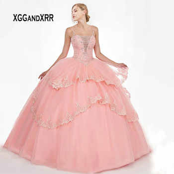 Luxury Quinceanera Dresses 2019 With Jacket Beading Crystal Applique Ball Gown vestidos robe de bal Sweet 16 Dresses Plus Size - DISCOUNT ITEM  0% OFF All Category