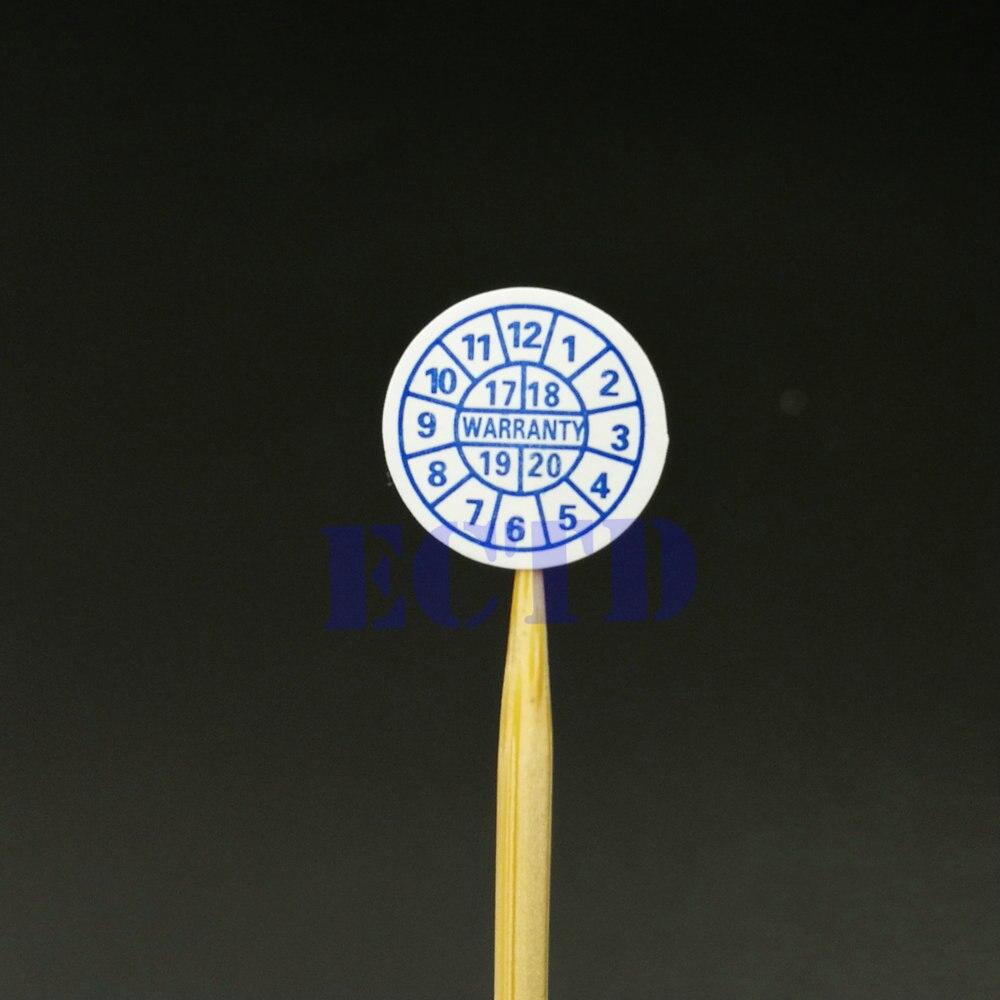 1200 шт. гарантия, наклейка на уплотнение, 2021, 2022, 2023, 2024, круглый год, размер 10*10 мм, красно-синий цвет, хрупкая этикетка