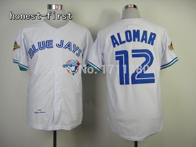fff815caa17 Toronto Blue Jays throwback jersey 12 Roberto Alomar jersey Retro Stitched  cheap authentic sport baseball jerseys custom M-3XL. aeProduct.