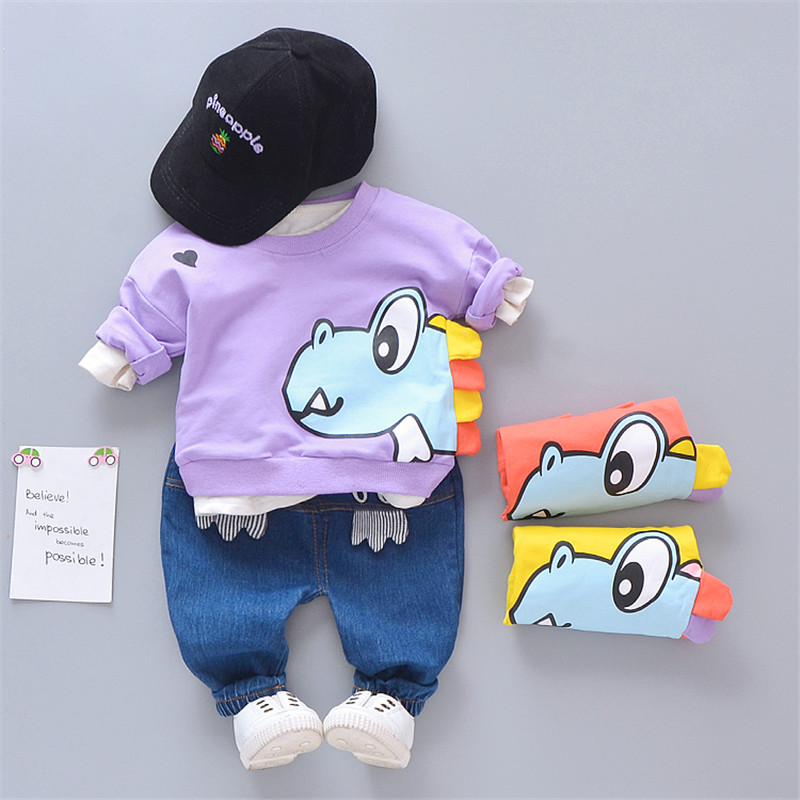 0-4 years High quality boy girl clothing set 2019 spring new active casual cartoon kid suit children baby clothing T-shirt+pant0-4 years High quality boy girl clothing set 2019 spring new active casual cartoon kid suit children baby clothing T-shirt+pant