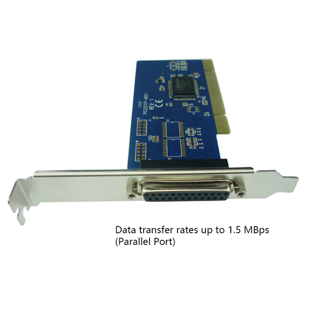 New Parallel Port DB25 LPT Printer To PCI Card Converter Adapter Win7 Moschip MCS9805