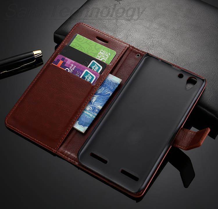 Lenovo vibe k 5 väska täcker läder Crazy häst flip fodral för - Reservdelar och tillbehör för mobiltelefoner - Foto 5
