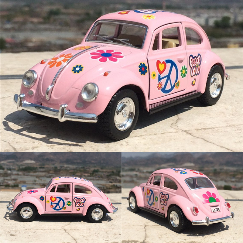New Vintage Car Styling VW 1967 Classical Painted Beetle 1/32 Alloy Retro Diecast Toy Vehicle Model For Kids Gift Gifts Toys