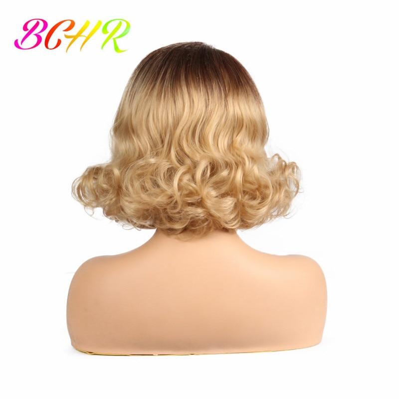 BCHR Syntetisk hög temperatur Fiber Snörning Fram Paryk 12inch Kort - Syntetiskt hår - Foto 4