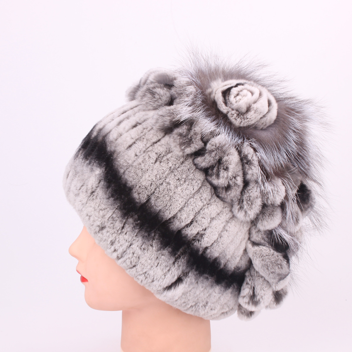184f36689afbd Aliexpress.com   Buy Rex Rabbit s Hair Leather And Fur Ma am Hats for women  High Archives Leather And Fur Winter Keep Warm Fox Woman hat female from ...