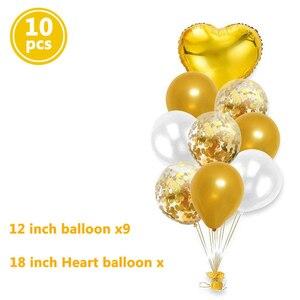 Image 4 - Globos de cumpleaños feliz para niños y adultos, decoración para fiesta de Baby shower, suministros de 1 año, 10 Uds.