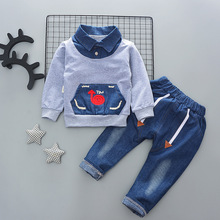 2020 Baby Boy Clothes Winter Cartoon Boy Clothing Set Long Sleeves Boys T Shirt+ Pant Kids Clothes Set Toddler Boy Clothes cheap YCXJ Fashion CN(Origin) O-Neck Sets Pullover SK016 Cotton Polyester Full Regular Fits true to size take your normal size