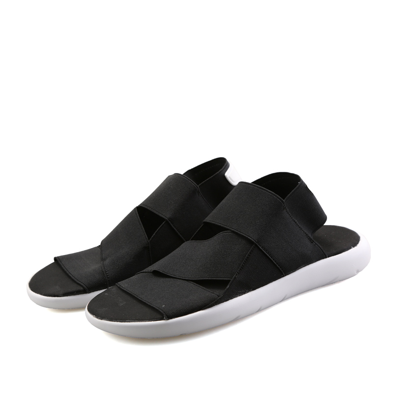 f1b89fc879a24 Aliexpress.com   Buy 2018 Summer New Y3 Sandals Men and Female Couple Beach  Slippers Fashion Elastic Fabric Student Casual Shoes from Reliable sandals  ...