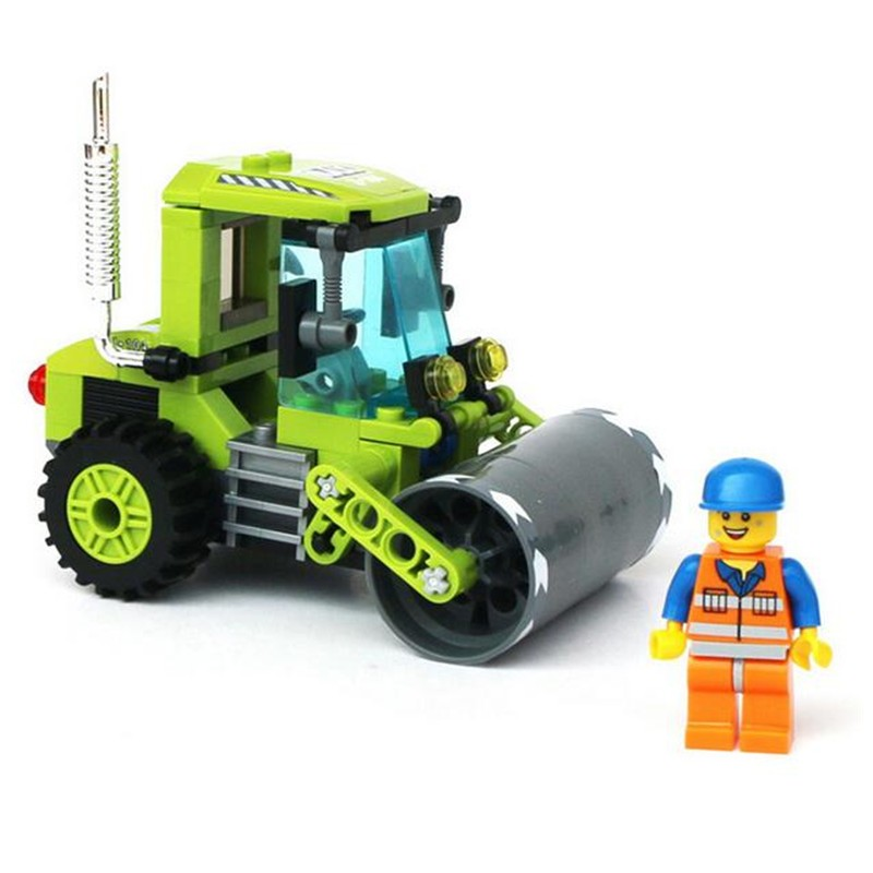 Super Interesting!!102pcs/set Small Size Engineering Vehicles Roller Assembly Building Blocks Kit Children Educational Toy Gifts