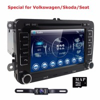 Capacitive Screen Two Din 7 Inch Car DVD Player For Seat Altea Leon Toledo VW Skoda