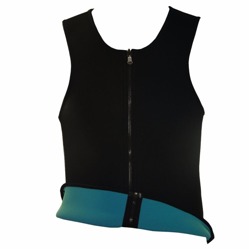 Men Latex Ultra Sweat Hot Waist Trainer Body Shaper Slimming Fit Vest Neoprene Front Zipper Fat Borning Control Top Shapewear (19)