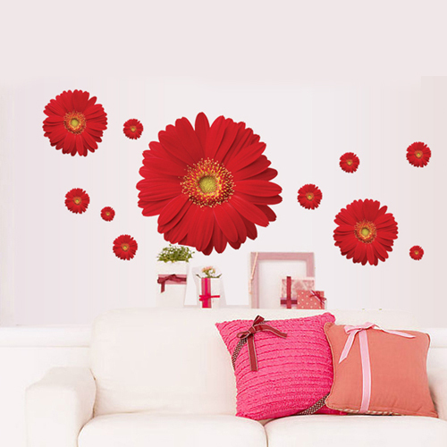 Incroyable 1Set Decorative Flower Decals For Furniture Stickers U0026 Red Flower Wall  Sticker Home Decor Wallpaper Flower In Wall Stickers From Home U0026 Garden On  ...