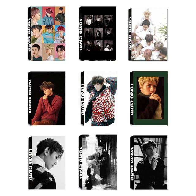 Youpop KPOP EXO SEHUN BAEKHYUN For Life EXACT Album LOMO Cards K-POP New Fashion Self Made Paper Photo Card HD Photocard LK443