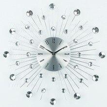 Desain Mewah Besar Seni Dinding Clock Duvar Saati Relogio De Parede Jam Morden Horloge Murale untuk Dekorasi Ruang Tamu