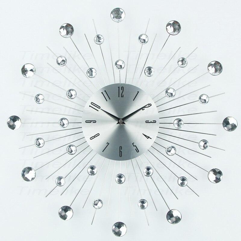 Design de luxo Grande De Metal Relógio de Parede Arte Duvar Saati Relógio Relógio De Parede Morden murale Horloge Para Sala de estar Decoração