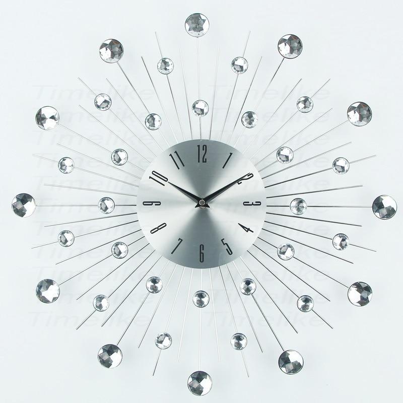 Luxury Design Large Metal Art Wall Clock Duvar Saati Relogio De Parede Clock Morden Horloge murale For Living Room Decoration