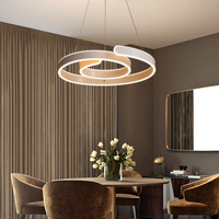 Modern Led Chandelier For Kitchen Dining Room Living Room Suspension Luminaire Hanging White Black Bedroom Chandeliers