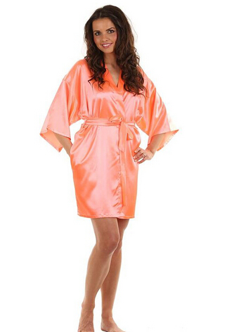 RB030 Sexy Large Size Sexy Satin Night Robe Lace Bathrobe Perfect Wedding Bride Bridesmaid Robes Dressing Gown For Women ...