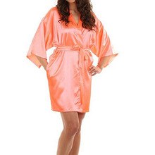 ad0138d1d1 RB030 Sexy Large Size Sexy Satin Night Robe Lace Bathrobe Perfect Wedding  Bride Bridesmaid Robes Dressing