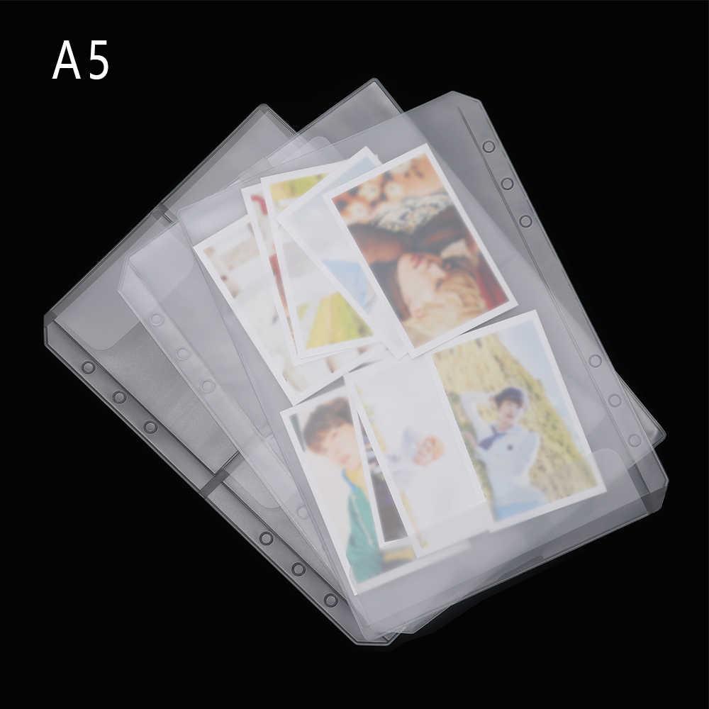2PCS A5 Transparent PVC Loose-leaf Storage Pouches Zip Lock Organizer Clear Resealable Concise Collection Document Postcard Bag