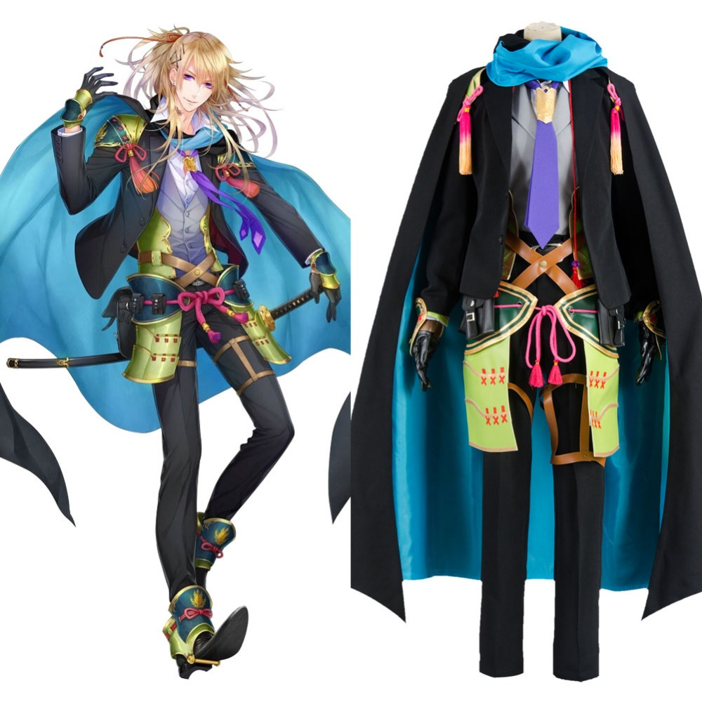 Touken Ranbu online Cosplay Koryuu Kagemitsu Costume Anime Full Set Uniform Costume Carnival Halloween Costumes