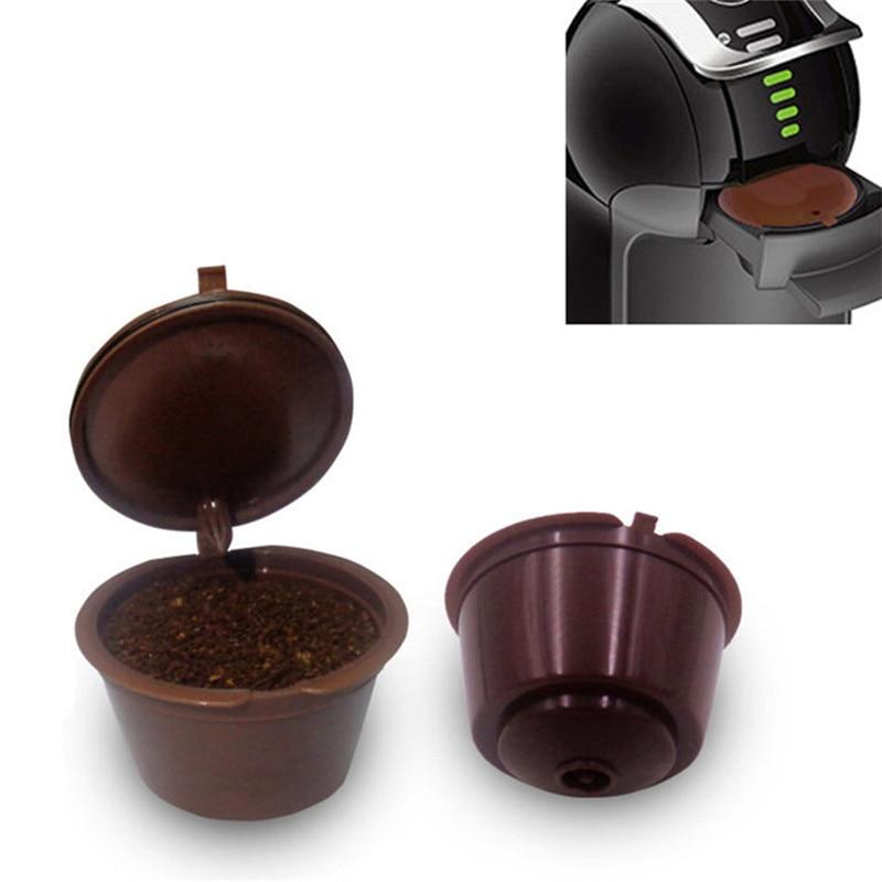1Pcs Mini Reusable Dolce Gusto Coffee Capsule,Plastic Refillable Compatible Dolce Gusto Coffee Filter Baskets Capsules