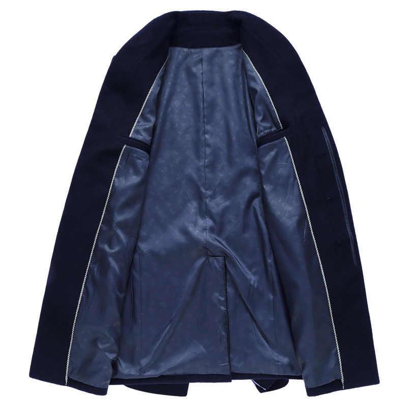 MRMT 2019 брендовые осенние мужские куртки шерсть в длинном пальто для мужчин Молодежный досуг тонкая шерсть, шерстяная ткань пальто одежда