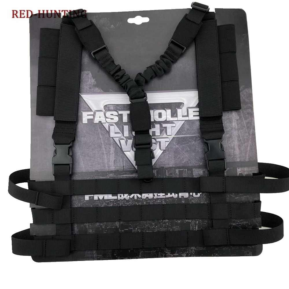 ใหม่ทหาร Airsoft COMBAT MOLLE ระบบ LOW PROFILE Chest RIG ง่ายต่อการพกพากลางแจ้งการล่าสัตว์ปืนสลิง Body Carrier