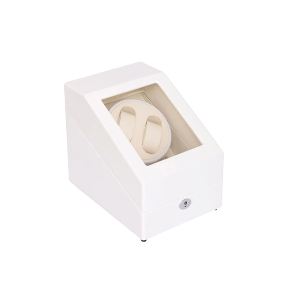 Watch Winder ,LT Wooden Automatic Rotation 2+3 Watch Winder Storage Case Display Box (white) 2016 latest luxury 5 modes german motor watch winder yellow spray paint wooden white pu leater inside automatic watch winder