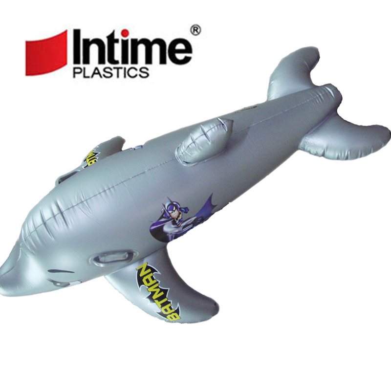 Yingtai yt116 child baby cartoon dolphin water floating row inflatable floating bed pump