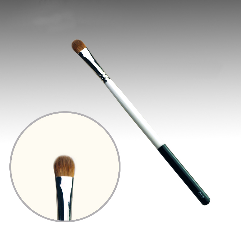 C22 Professional Makeup Brushes Weasel Hair Eye Shadow Brush White Black Handle Cosmetic Tools Make Up Brush 7e08 professional makeup brushes weasel hair eye shadow blending brush black handle cosmetic tools smoky eye make up brush