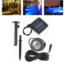 1 SET Solar Powered Panel LED Spike Spot Light Spotlight Landscape Garden Yard Path Lawn Solar Lamps Outdoor Grounding Sun Light
