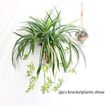 Artificial Flower real touch Bracketplant Chlorophytum Orchids Rattan Wall Hanging Silk Plant Home Shop Decor