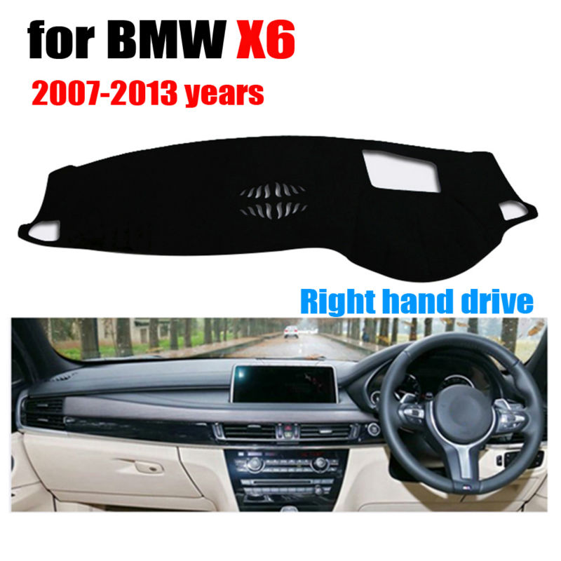 Car dashboard covers for BMW X6 High configuration 2007-2013 Right hand drive dashmat pad dash cover auto dashboard accessories