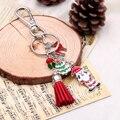 Iron Key Chain For Christmas Gift Pendant Brand Korea cashmere  Alloy Unisex Keychain Enamel Charm Keyring for woman