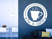 Wall Decal Tea Coffee Cafe Dining Murals Modern Interior Kitchen Coffee