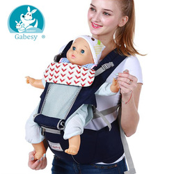Gabesy Ergonomic Baby Carrier Infant Kid Baby Hipseat Sling Front Facing Kangaroo Baby Wrap Carrier for Baby Travel 0-36 Months