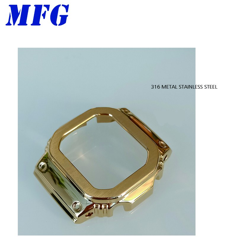metal Watch Case bezel GWM5610 DW5600 GW5000 Modification Stainless Steel silver gold black for Men Women