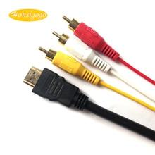 Honsigogo 5 Pés 1080 P HDMI Macho para 3 RCA Audio Video Cabo AV Adapter Converter Cabo Conector para HDTV