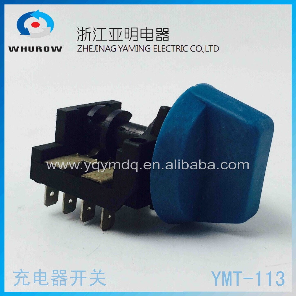 Rotary switch 4 position 360 degree rotate YMT-113 universal switch 440V 10A 7 pin charger switch welder switch welding machine 660v ui 10a ith 8 terminals rotary cam universal changeover combination switch