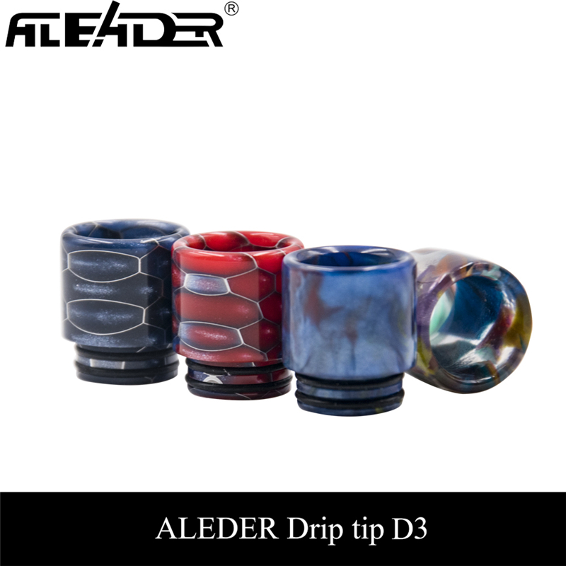 Aleader 510 810 Drip Tip 4 Drips Tip Box Kit Resin Mouthpiece For E Cigarettes Tank Atomizers E-cigarette Vaporizer Accessories