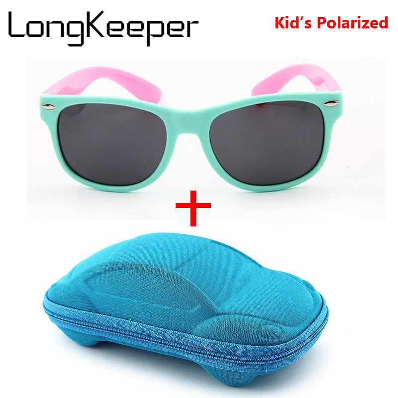 b6b10317999 Detail Feedback Questions about LongKeeper Girls Sunglasses Kids Polarized  Lenses Sun Glasses Children UV400 Goggles Silicone Child Mirror Baby Eyewear  With ...