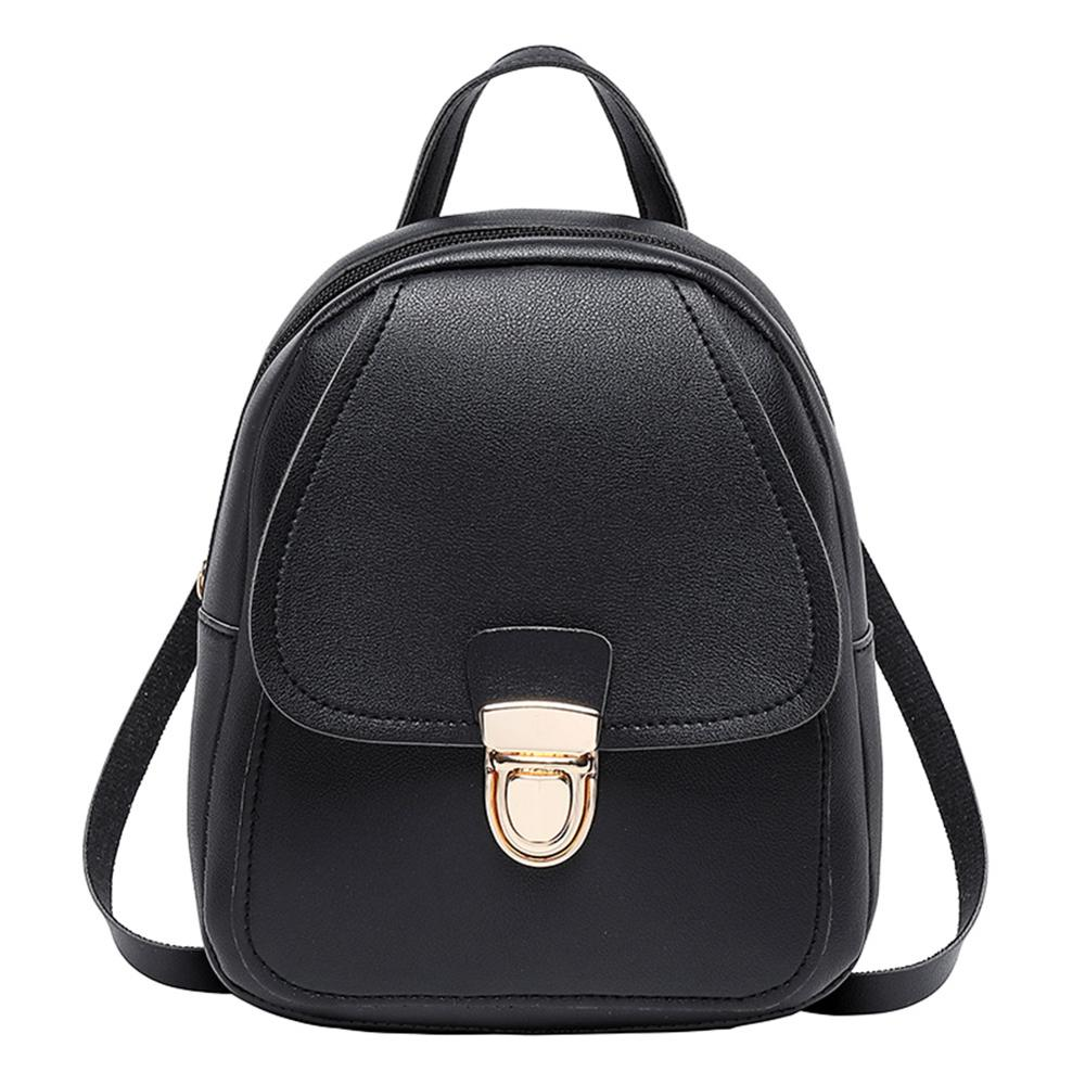 Fashion New Women Mini Backpack PU Leather Bags For Girls Schoolbags Travel Shoulder Bag Sac A Dos Bolsas Mochila Feminina Mujer