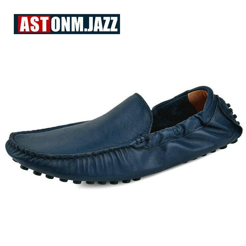 Los blue green De Cuero Slip Hombres on Plana Zapatos Mocasines red orange grey Suela Para Black white Casuales Conducción dOq6Wnfq