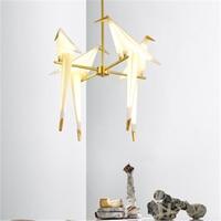 Modern Bird LED Pendant Lamp Nordic LED Pendant Light Origami Crane Bird Pendant Ceiling Lamps Living Room Wall Lamp Desk Lamp
